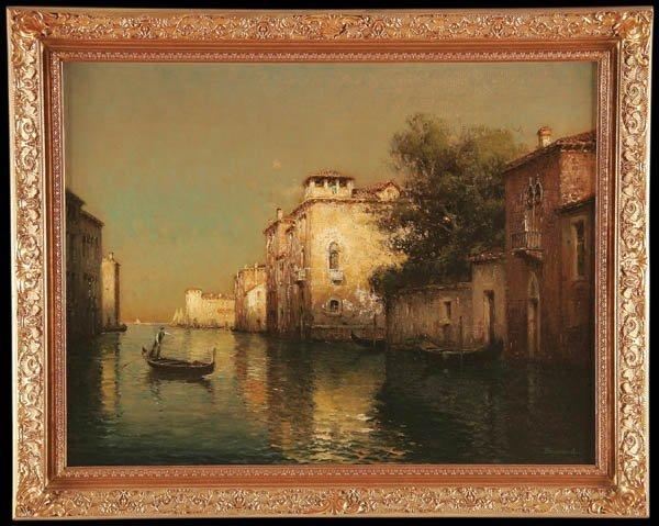2: ANTOINE BOUVARD (French 1870-1956), A Gondolier o