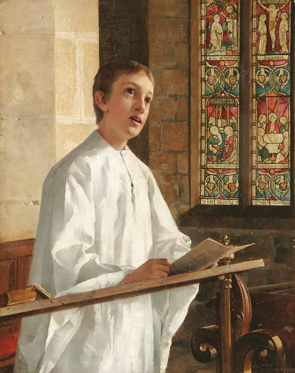 13: J. CLARK (British 19th century), Angelic Voice—18