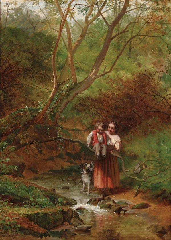 15: JAMES STOKELD (British 1827-1877), Wooded Playgro