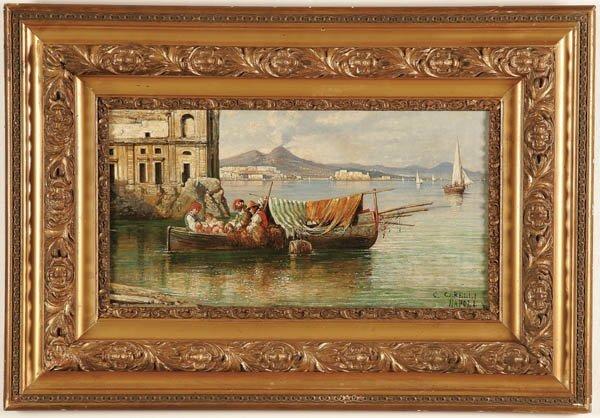 17: CONSALVO CARELLI (Italian 1880-1900) , Bay of Nap