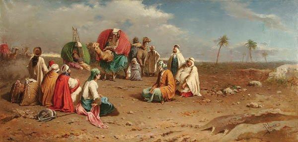 18: FRANCESCO PELUSO (Italian 1836-1916), Desert Nego