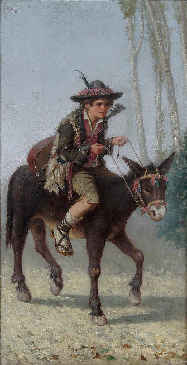 19: GAETANO MORMITE (Italian 1839-1890), The Young Mu
