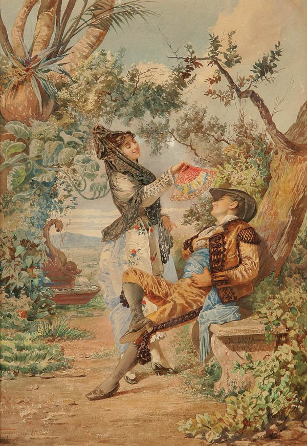 21: BELASARIO GIOIA (Italian 1829-1926), Flirtation,