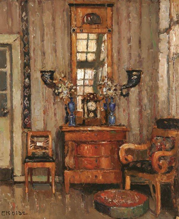 23: ERNST KOLBE , (German 1876-1945), An Interior Sce