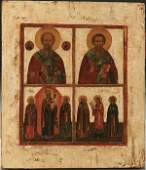 249 A RUSSIAN ICON Selected Saints 18th19th centur