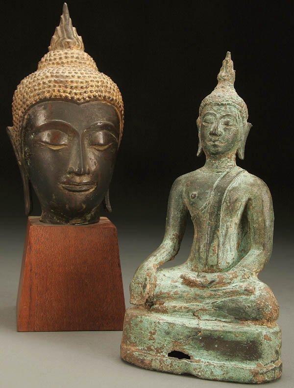 780: A PAIR OF THAI  BUDDHA FIGURES Thailand