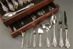 979 105 PC SET OF STERLING SILVER FLATWARE WALLACE G
