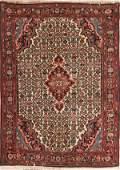 1284 A PERSIAN BIDJAR HAND WOVEN ORIENTAL RUG mid 20th