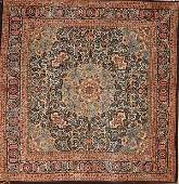 1285: A LARGE ROOM SIZE TABRIZ HAND WOVEN ORIENTAL RUG