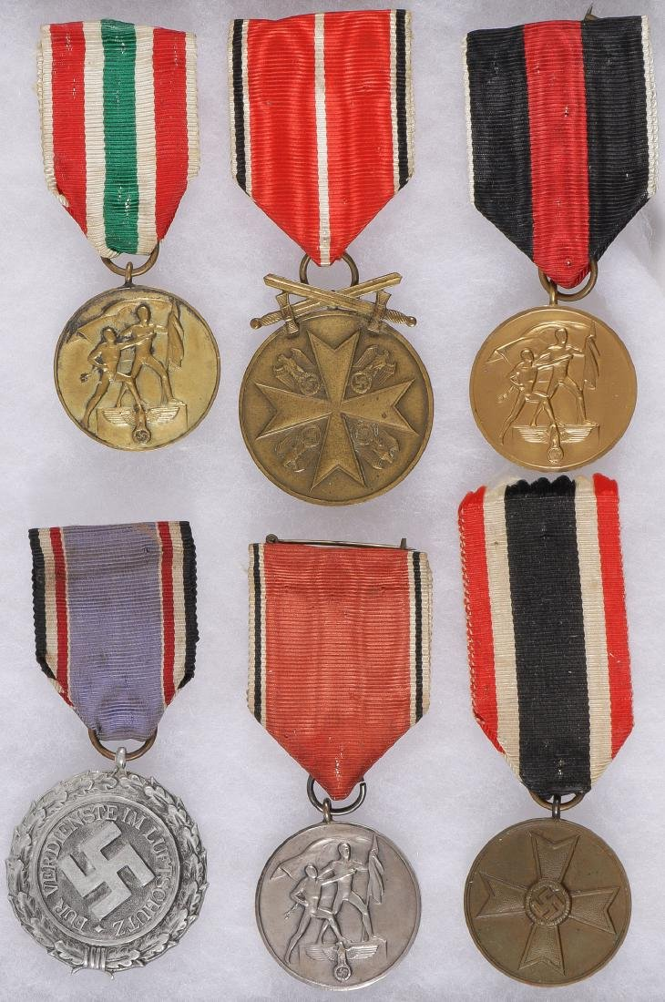 SIX GERMAN WWII MEDALS