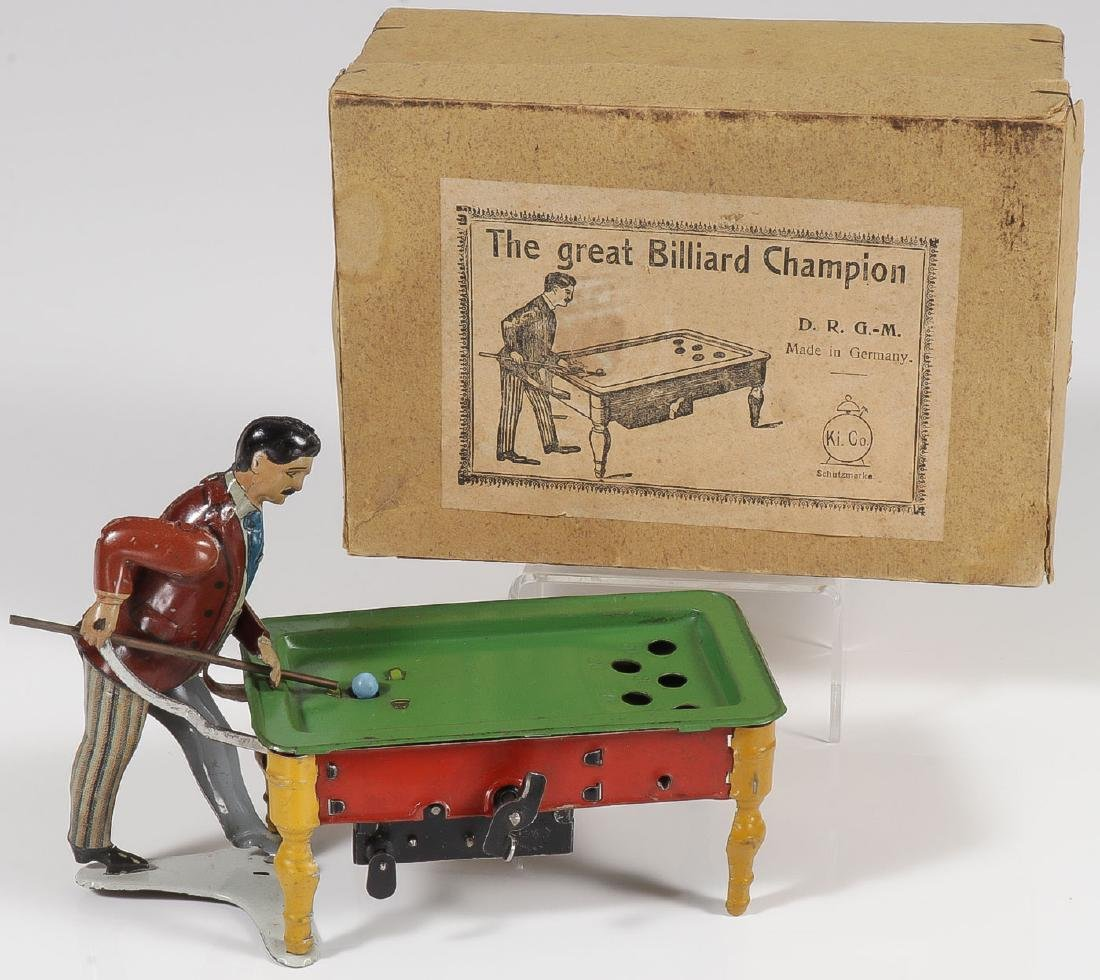 KEINBERGER TIN GREAT BILLIARD CHAMPION WITH BOX