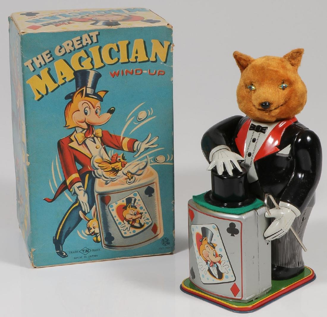 THE GREAT MAGICIAN WIND-UP TOY WITH BOX