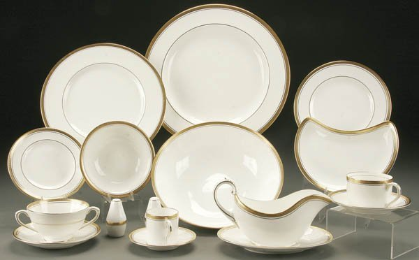 242: 312 PIECES OF COALPORT 'ELITE-GOLD' CHINA; early
