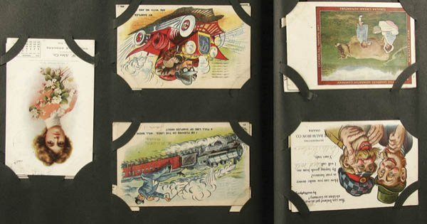 699: APPROXIMATELY 250 ADVERTISING POSTCARDS housed in
