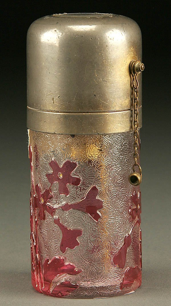 877: A ST. LOUIS CAMEO ATOMIZER; early 20th century; c