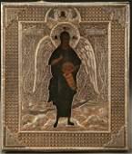 1090 A FINE RUSSIAN ICON ST JOHN THE FORERUNNER cir