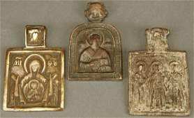1124 RUSSIAN ICONS circa 17001800 a group of three