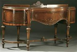 1275: ITALIANATE STYLE MARQUETRY DINING ROOM SET, PARTI
