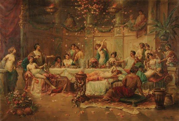 3: JOSEPH BERNARD (French 1866-1931) Bacchus Banquet