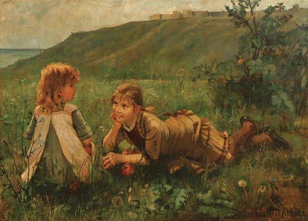 5: ELIZABETH KEYSER (Swedish 1851-1898) Summer Idyll