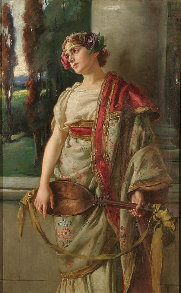 6: CARL ZEWY (Austrian 1855-1929) Allegory of Music