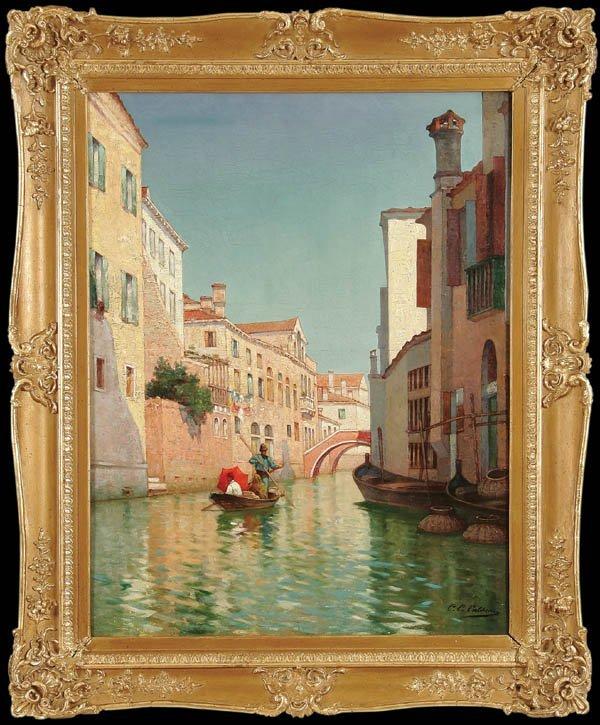 7: CHARLES CLEMENT CALDERON (French 1870-1906) Venet