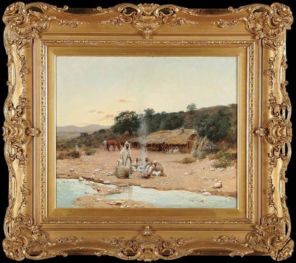 PAUL JEAN BAPTISTE LAZERGES  (French 1845-1902), OIL