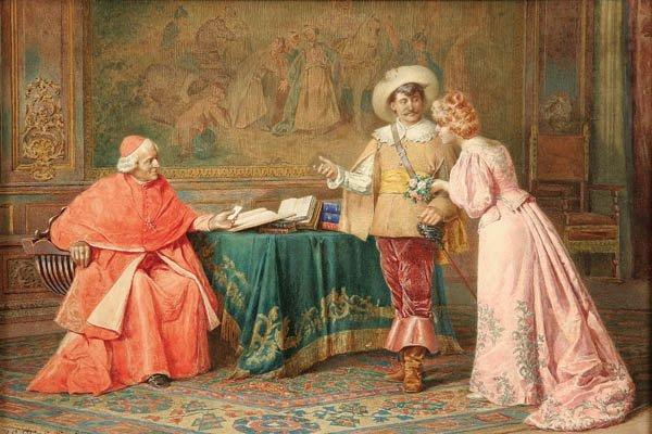 10: B. GIUSEPPE CHIARGLINI (Italian 19th century) Int