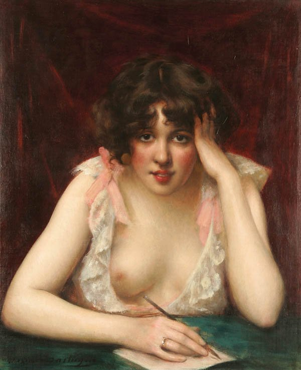 12: MAXIME DASTUGUE (French 1851-1909) The Love Lette