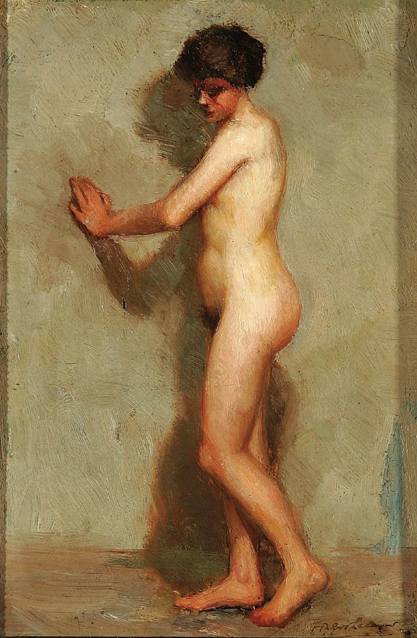 13: F.G. LEEWS (French 19th century) Timid – A Nude O