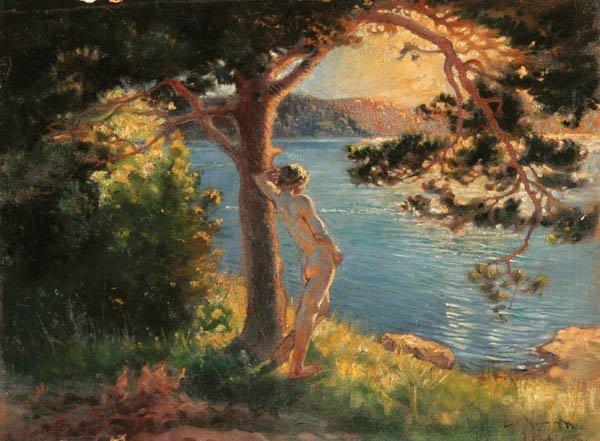 15: LENNART NYBLOM (Swedish 1872-1947) A Nude Overloo