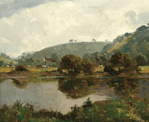 19: CAMPBELL A. MELLON; RBA (British 1876-1955) Lands