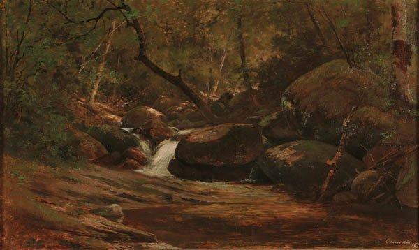517: EDWARD HILL (American 1843-1923) Wood and Rock Li