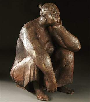 529: ARMANDO AMAYA (Mexican b.1935) Deep in Thought -