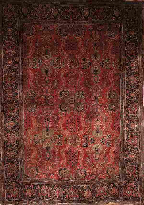 663: A GOOD PERSIAN MAHAL CARPET circa 1940's hand wov