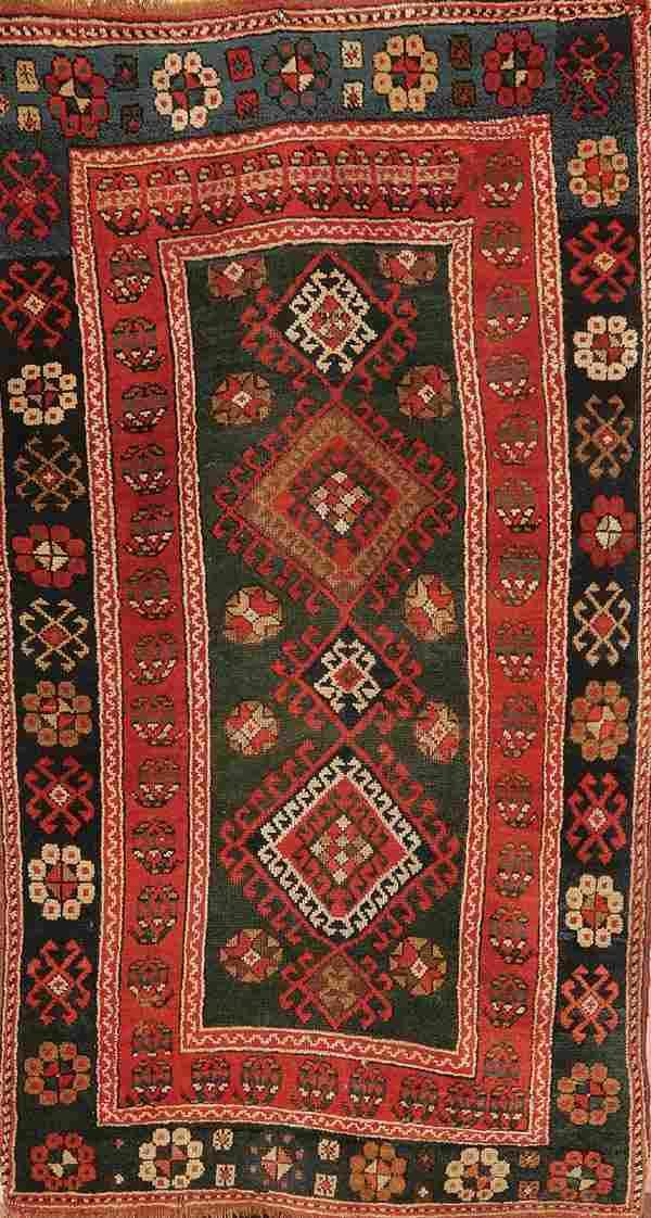 669: A GOOD CAUCASIAN KAZAK RUG circa 1920's, hand wov