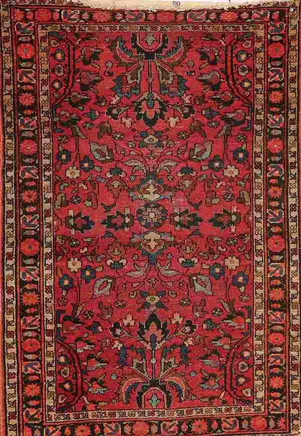 687: A PERSIAN LILLIHAN RUG circa 1930's, hand woven w