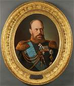 IMPERIAL RUSSIAN PRESENTATION PORTRAIT, A III