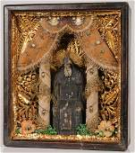 INTERESTING RUSSIAN ICON ST NIL STOLBENSKY 19TH C