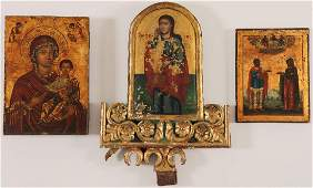 GREEK AND RUSSIAN ICONS CIRCA 1800