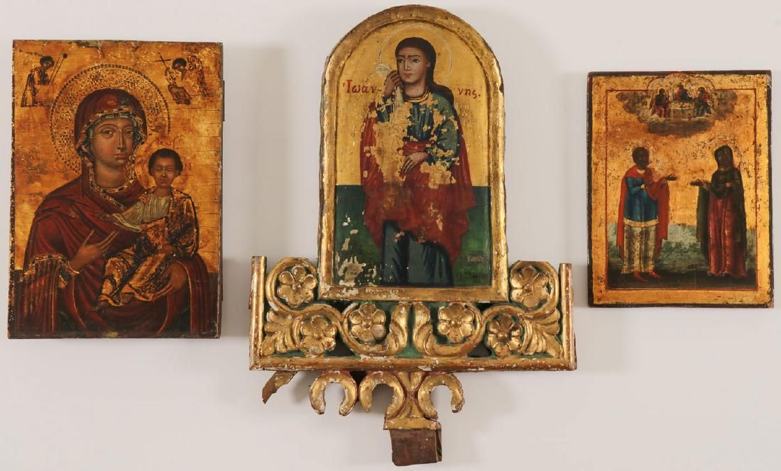 GREEK AND RUSSIAN ICONS, CIRCA 1800