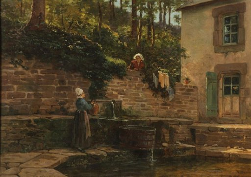 GREAT FRENCH GENRE PAINTING, ARTIST SIGNED
