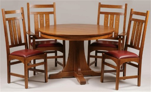 A Contemporary Stickley Dining Table And Chairs