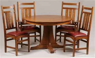 Fantastic A Contemporary Stickley Dining Table And Chairs Alphanode Cool Chair Designs And Ideas Alphanodeonline