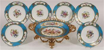SEVRES HAND-PAINTED PORCELAIN, 19TH CENTURY