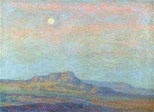 BIRGER SANDZEN (American 1871-1954) Evening Weste