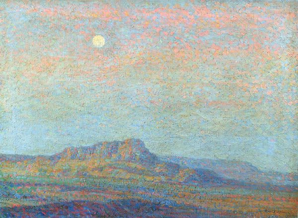 1: BIRGER SANDZEN (American 1871-1954) Evening Weste