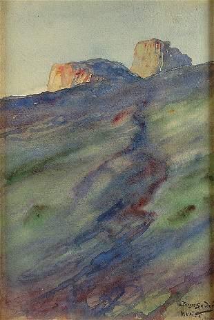 BIRGER SANDZEN (American 1871-1954), Mexico, 1925