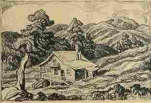 BIRGER SANDZEN (American 1871-1954), A Mountain S
