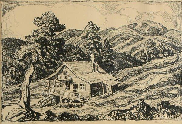 3: BIRGER SANDZEN (American 1871-1954), A Mountain S